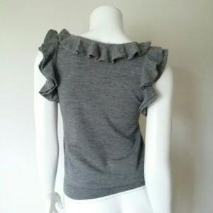 Moda International Sweaters - Moda International Wool Gray Sleeveless Sweater